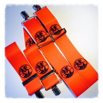 Hosenträger 4 Clip 50mm orange