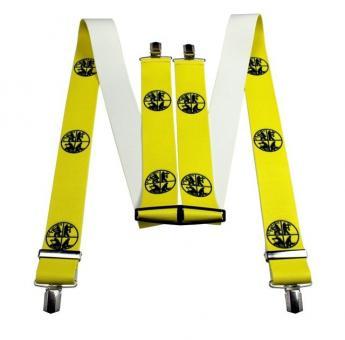 Hosenträger 4 Clip 50mm neon gelb