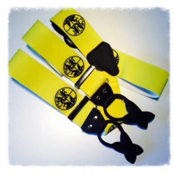 Hosenträger Rollzug 50mm neon gelb
